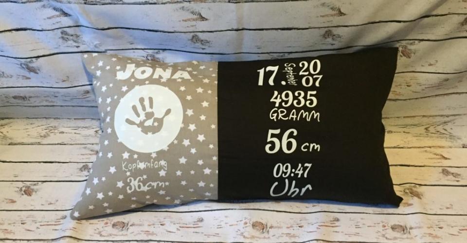 braun/beige - Geburtskissen mit Gewicht