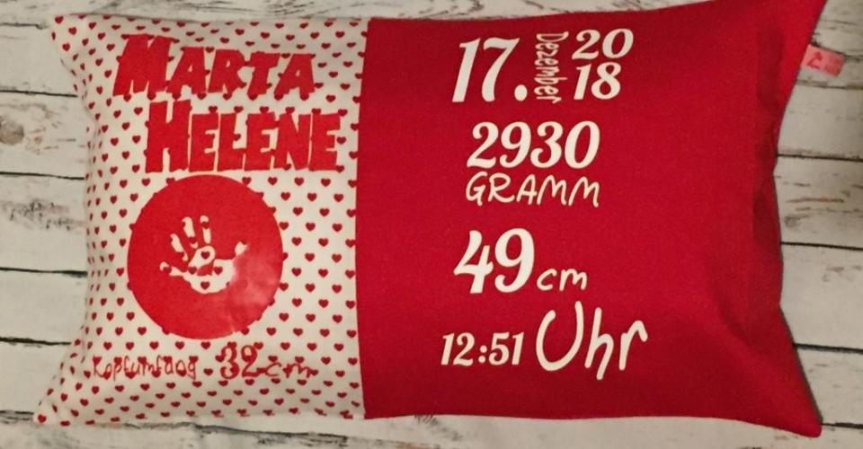 rot - Geburtskissen mit Gewicht